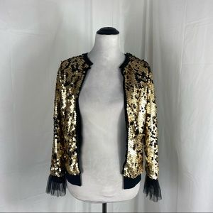 Art Class Black with Gold Sequin Jacket